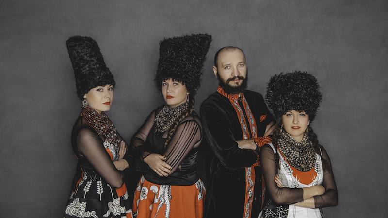 photo of Ukrainian 'ethno chaos' band DakhaBrakha