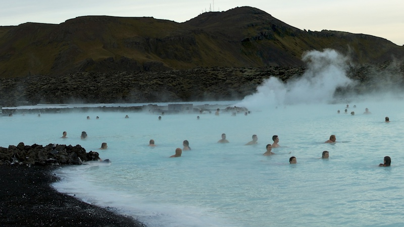 The lovely thermal waters of Iceland's understandably famous Blue Lagoon.
