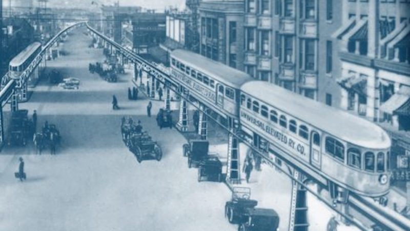 old, planned-but-never-built Seattle Monorail downtown