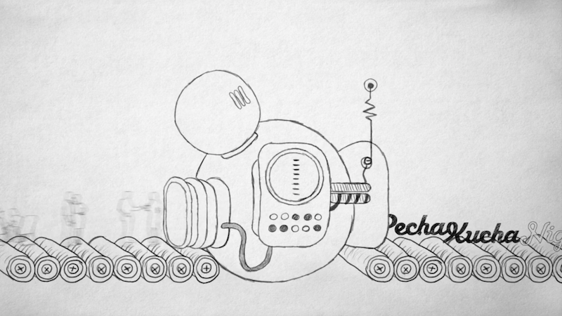 illustration of Pecha Kucha concept