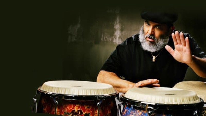 picture of Poncho Sanchez, conga player