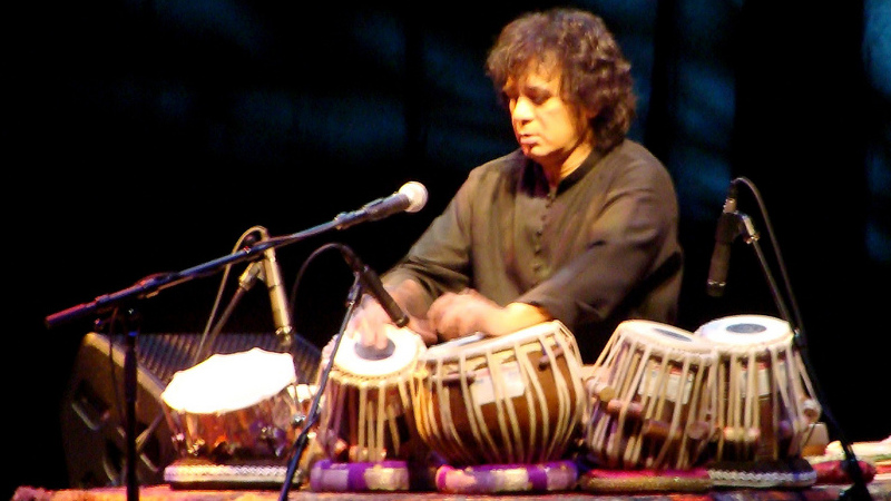 Zakir Hussain, tabla master
