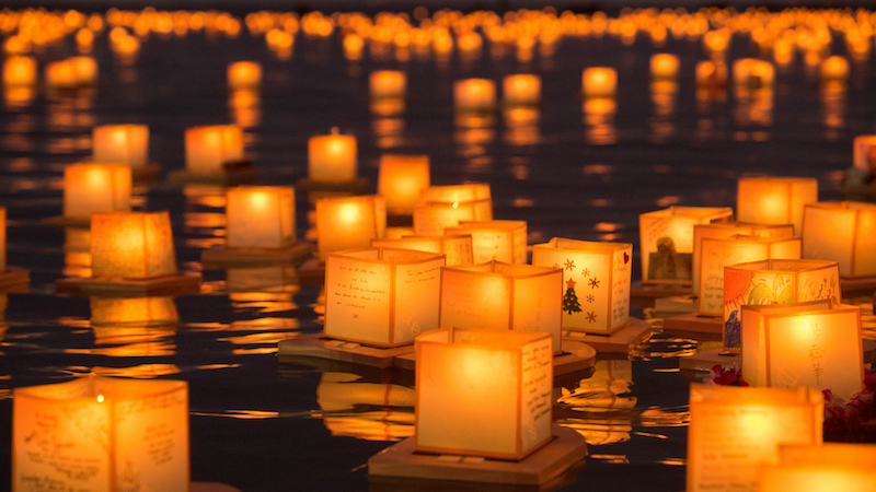 lantern floating ceremony