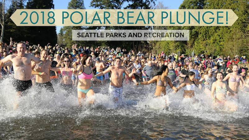 Matthews Beach polar bear plunge 2018