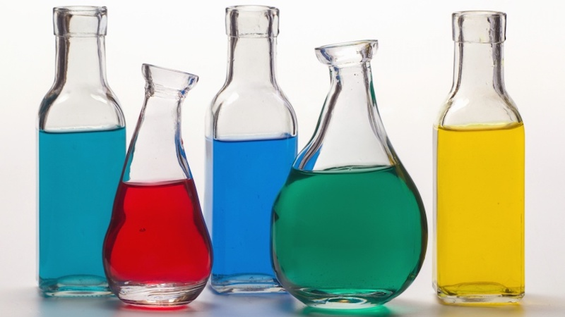 colored science beakers - Drunken Science - Wed. night